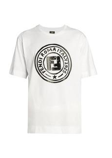 Fendi Cotton Circle Logo Logo T-Shirt