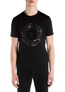 Fendi Cotton Circle Logo T-Shirt
