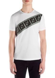 Fendi Cotton Logo Print T-Shirt