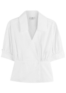 Fendi Cotton Puff Sleeve Top