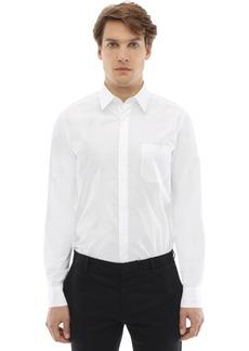 Fendi Cotton Shirt W/flocked Cubic Eyes