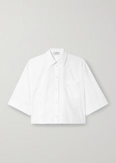 Fendi Cropped Cotton-poplin Shirt