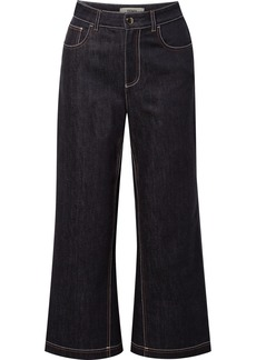 Fendi Cropped High-rise Wide-leg Jeans