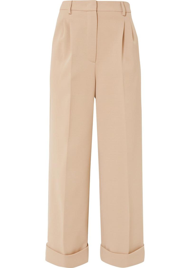 Fendi Cropped Jersey Wide-leg Pants