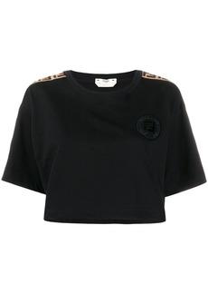 Fendi cropped logo-trimmed T-shirt