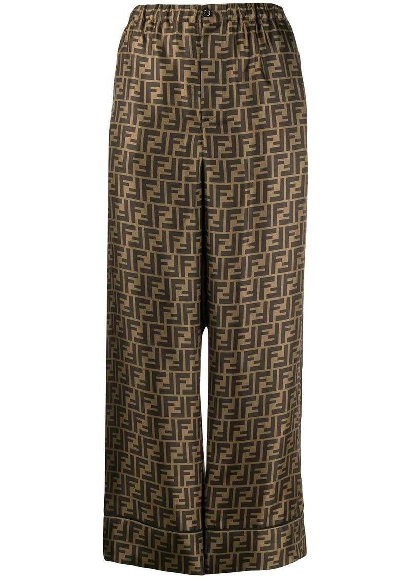 Fendi cropped palazzo trousers