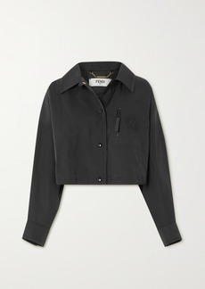 Fendi Cropped Twill Jacket