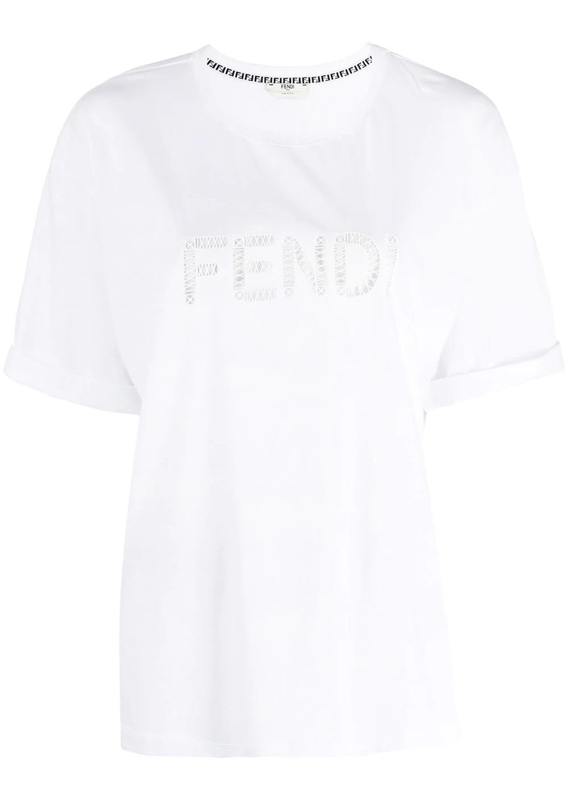 Fendi cut-out logo T-shirt