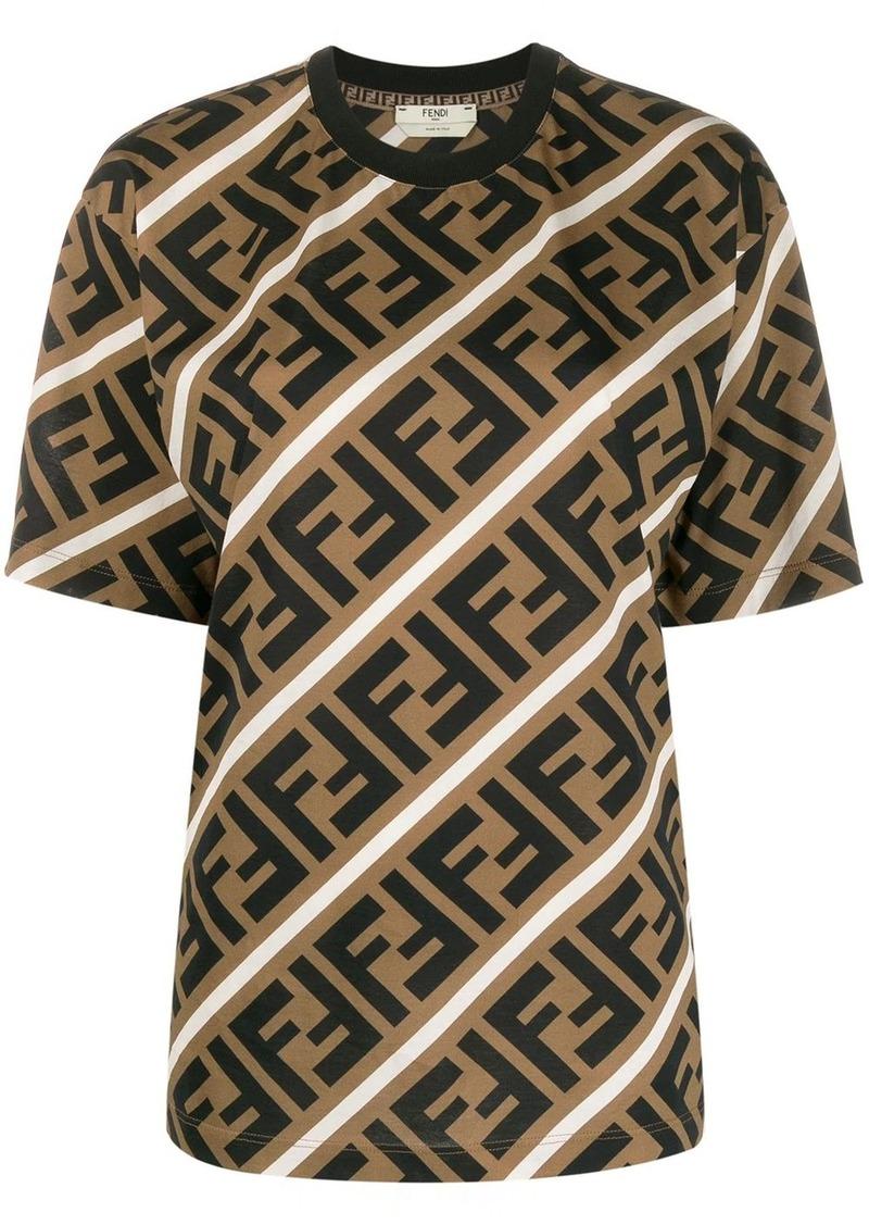 Fendi diagonal FF motif T-shirt