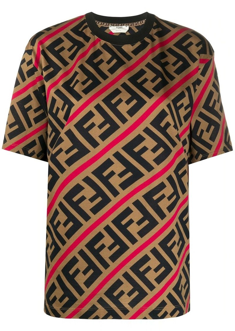 Fendi diagonal FF print T-shirt