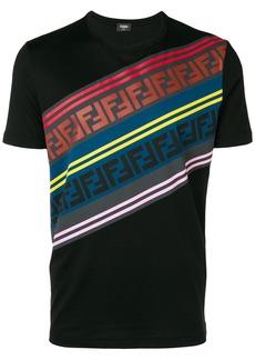 Fendi diagonal logo stripe T-shirt
