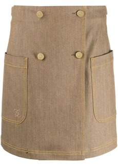 Fendi double-breasted high-waisted skirt