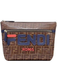 Fendi double F logo clutch bag