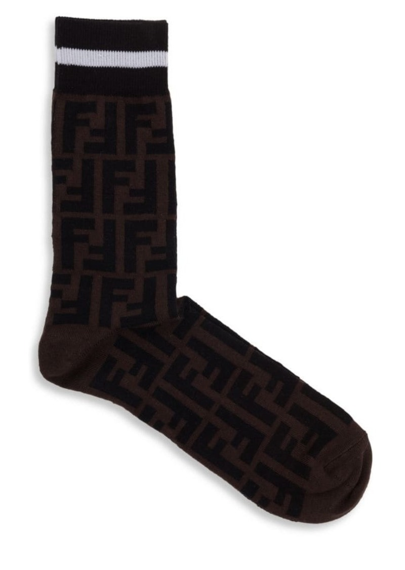 35b8b3cbae49b Fendi Double-F Logo Socks | Misc Accessories