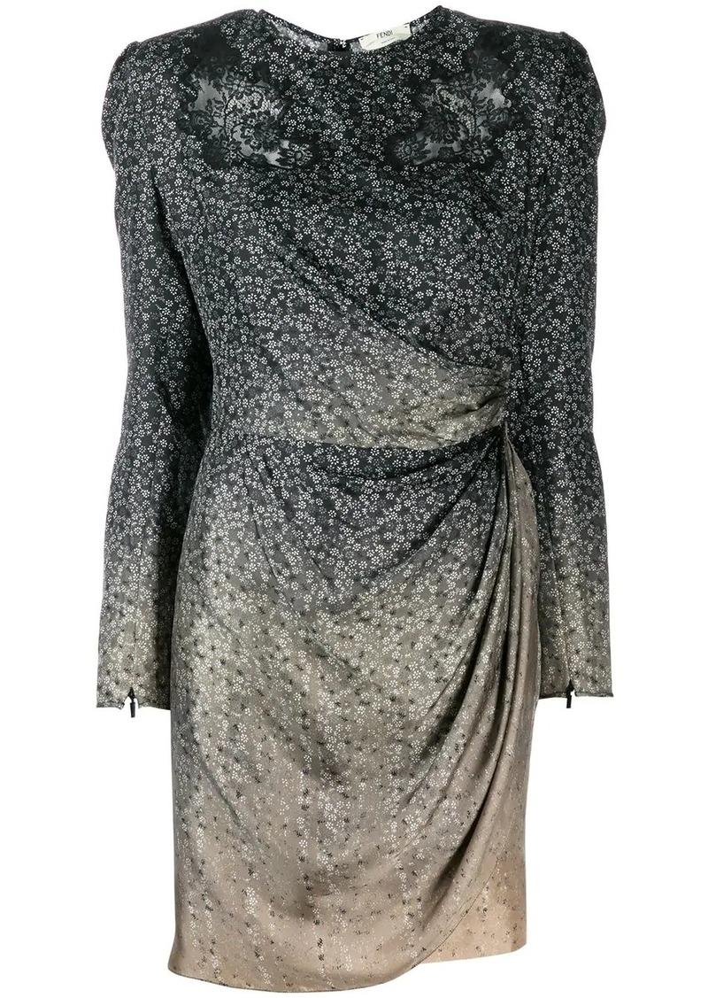 Fendi draped mini dress