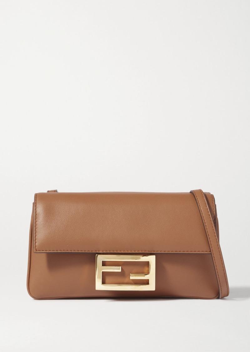 Duo Baguette Leather Shoulder Bag