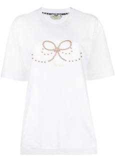 Fendi embellished crew neck T-shirt
