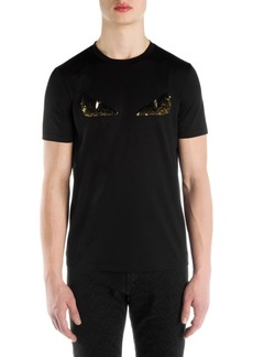 Fendi Embellished Eye Graphic T-Shirt