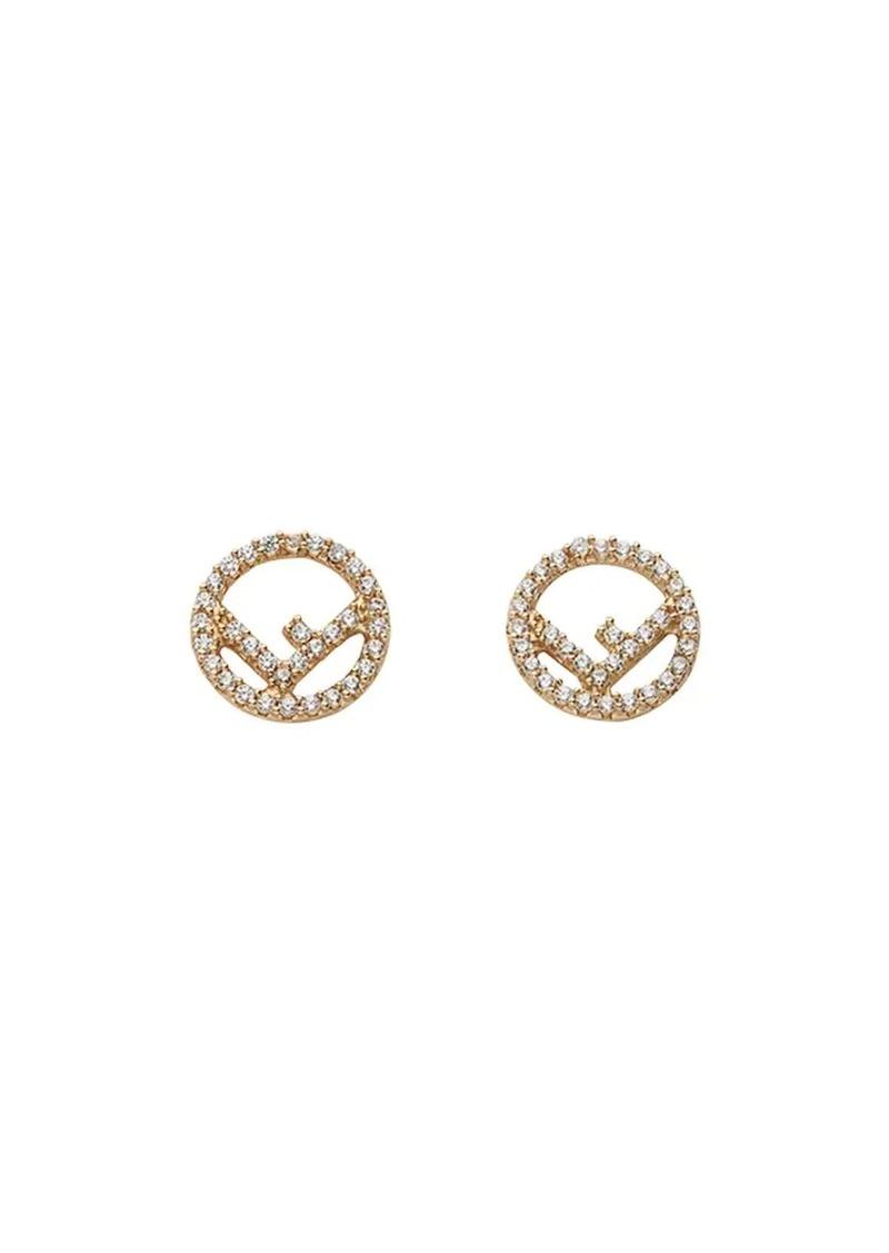 Fendi embellished logo earrings