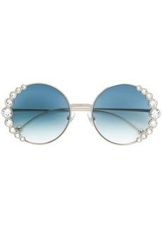 Fendi embellished round frame sunglasses