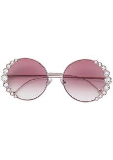 Fendi embellished round sunglasses