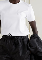 Fendi Embossed Cotton-jersey T-shirt