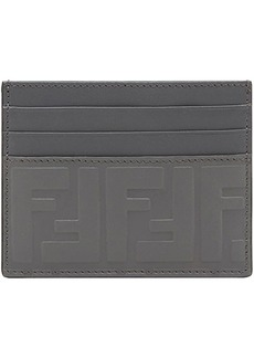 Fendi embossed FF card holder