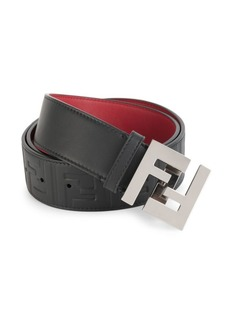 Fendi Embossed FF Logo Belt