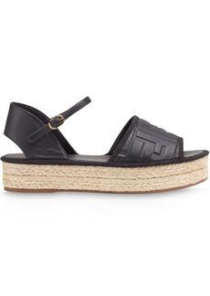 Fendi embossed FF motif platform sandals