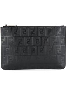 Fendi embossed FF pouch bag