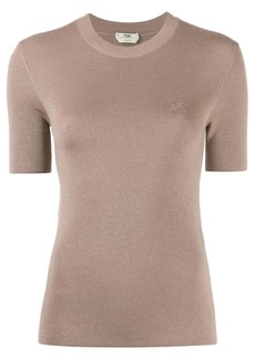 Fendi embroidered chest logo jumper