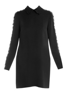 Fendi Embroidered Detail Stretch Cady Dress