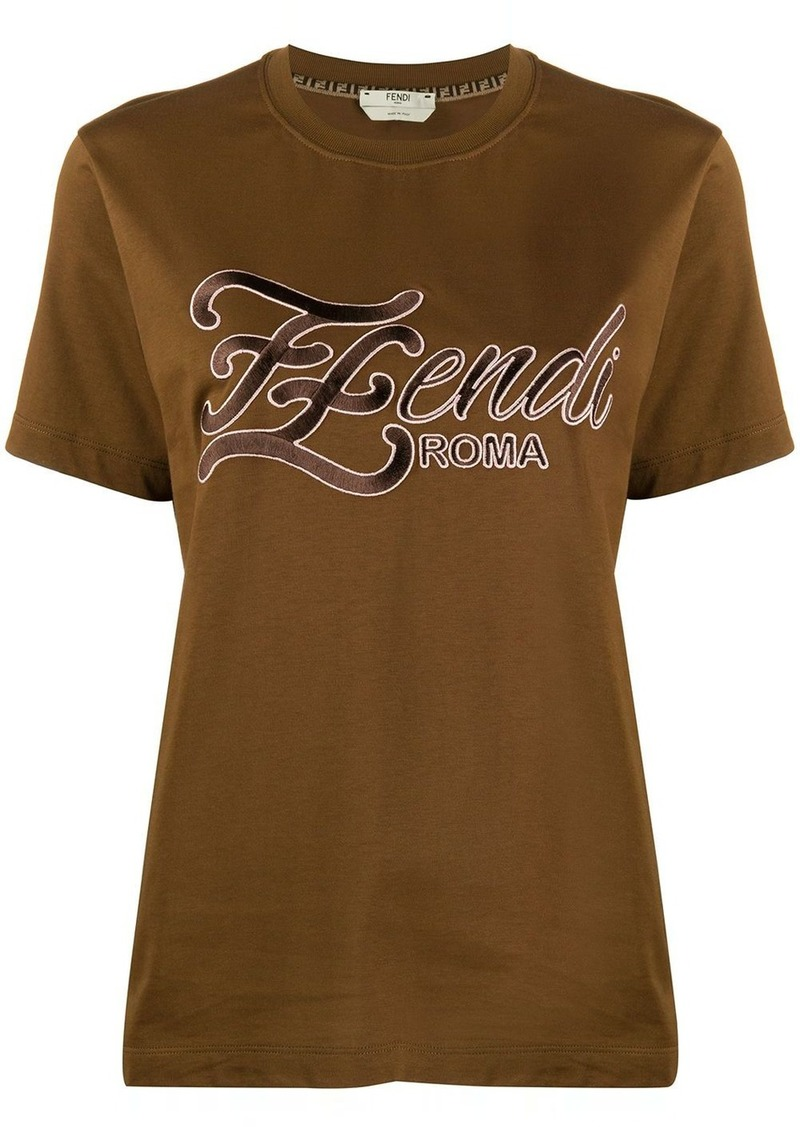 Fendi embroidered FF Karligraphy T-shirt