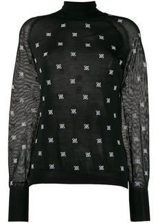 Fendi embroidered Karligraphy motif jumper