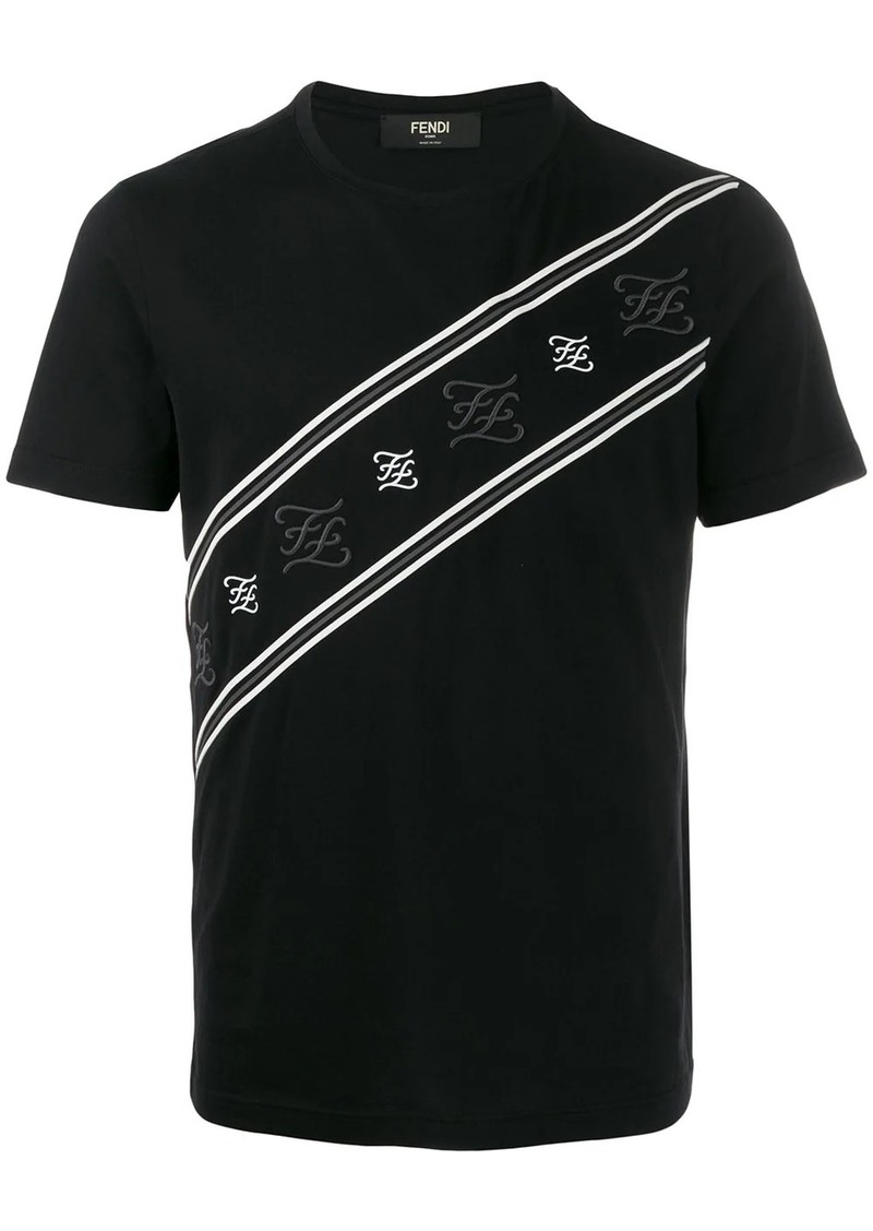 Fendi embroidered Karligraphy T-shirt