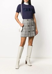 Fendi embroidered-logo cotton T-shirt