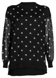 Fendi Embroidered Logo Oversized Sweater
