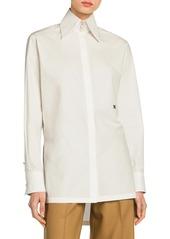 Fendi Embroidered Monogram Cotton Taffeta Shirt