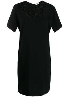 Fendi embroidered shift dress