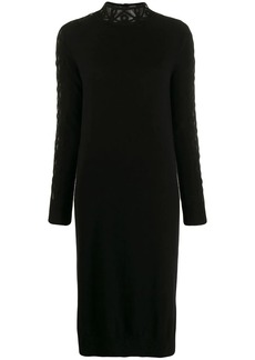 Fendi embroidered sides knitted dress