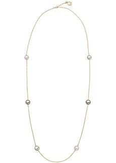 Fendi F logo charm necklace