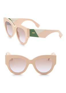 Fendi Facets 51MM Round Cat Eye Sunglasses
