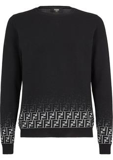 Fendi faded FF motif jumper