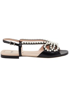 Fendi faux pearl embellished sandals