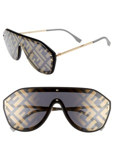 Fendi 147mm Logo Lens Shield Sunglasses