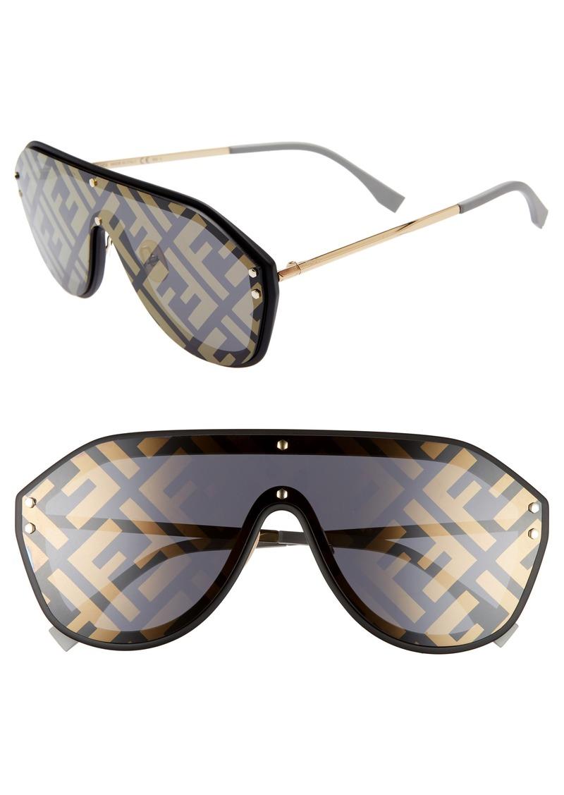 Fendi 147mm Logo Lens Shield Sunglasses