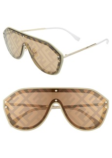 Fendi 155mm Logo Lens Shield Sunglasses