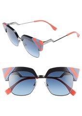 Fendi 50mm Cat Eye Sunglasses