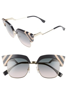 Fendi 50mm Cat Eye Sunglasses