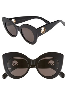 Fendi 50mm Oversized Cat Eye Sunglasses